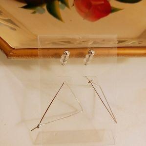 Minimal/simple silver studs + triangular hoops